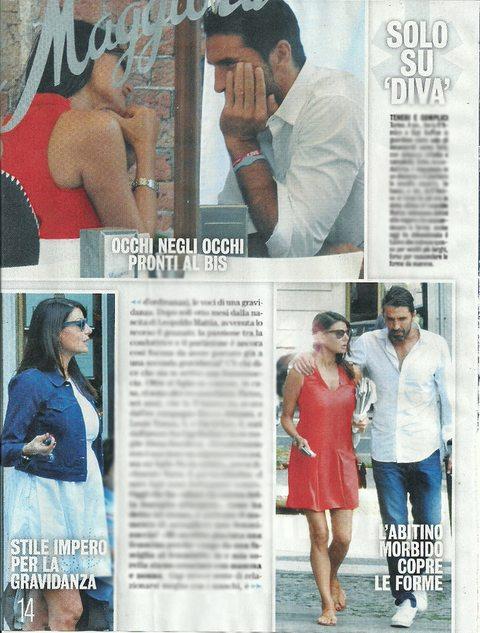 "Ilaria D'Amico incinta? Le foto col ""pancino"" mentre passeggia con Gigi Buffon"
